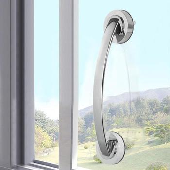 1pc Vacuum Sucker Suction Cup Handrail Grip Bathroom Safety Helping Handle Kids Elder Grab Bar Anti Slip for Glass Door Bathroo