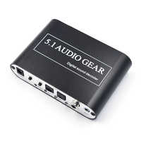 Digital Audio Sound Decoder 5.1 Audio Gear DTS AC3 PCM Digital Audio Converter LPCM To 5.1 Analog Output