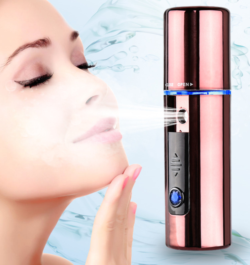Kemei KM-708 Facial Moisturizing Beauty Instrument Portable Nano Mist Spray Handy Atomization Mister Device Beauty Tool