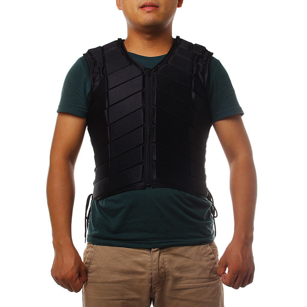 Safety Equestrian Horse Riding Vest Protective Body Protect Black Adult XXL