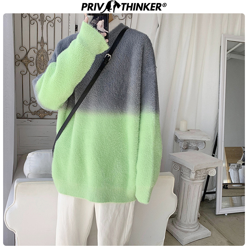 Privathinker Men 2020 Patchwork Autumn Winter Sweater Male Pullovers Casual Knitted Collage Sweaters Mens O-Neck Clothes Fashion