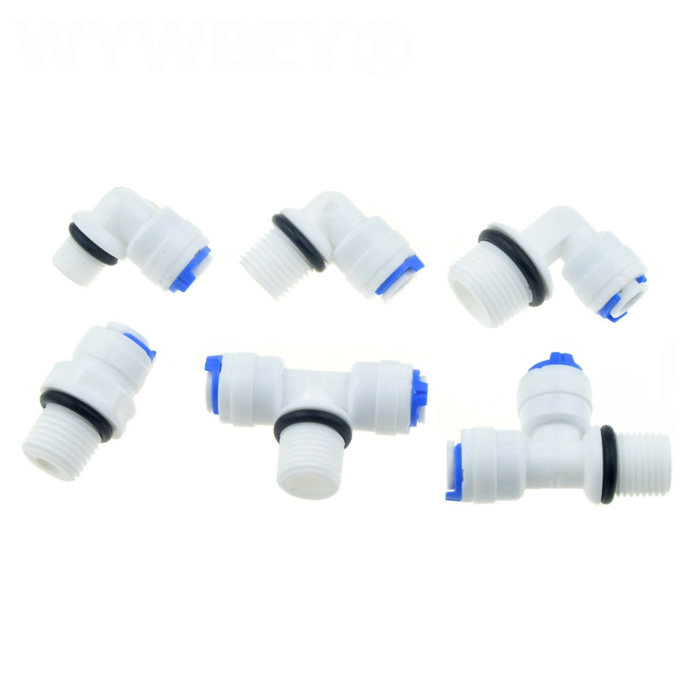 RO Water Pipe Fitting 1/4 OD Hose 1/8