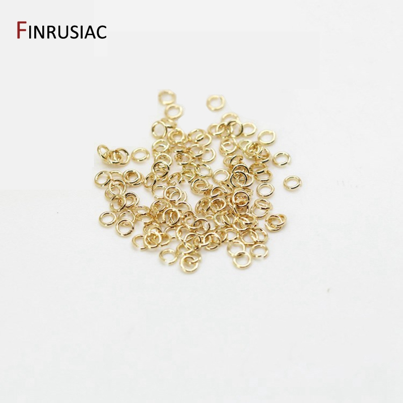 200 шт./пакет 14k, покрыто настоящим с позолотой латунь металлические разомкнутые кольца для прыжков для самостоятельного изготовления ювелир...