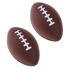 2X Soft Childrem Recreational Footballs, Foam Lining American Football, Kids Youth Junior Game Party Playing Balls