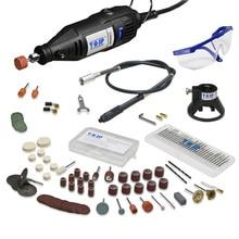 220 В 130 Вт Электрический мини-набор сверл, роторный инструмент и гибкий вал, 140 шт абразивных бит, Аксессуары Dremel, стиль гравировки, полировки