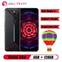 """Versión Global ZTE Nubia magia roja, 3 6,65 """"Snapdragon 855 Octa core huella dactilar frente 48MP 6GB 128GB 5000mAh juego smartPhone"""
