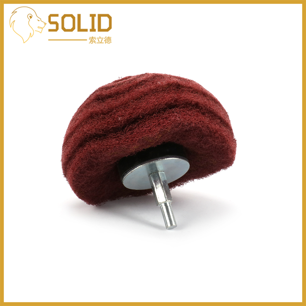 Scouring Pad Grinding Polishing Head Mounted Dome Sanding Mop Nylon Fiber Buffing Wheel For Work Deburring 2/3/4inch 320Grit