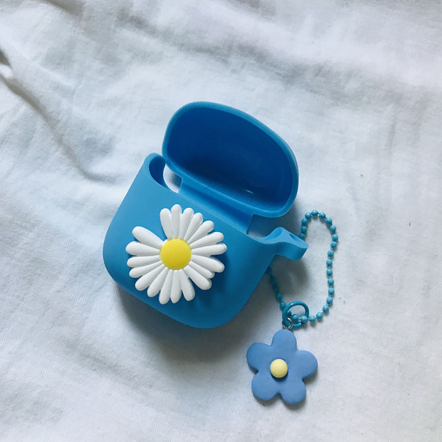 flower Pendant case for JBL tune 220 tws Case fashion daisy keychain Silicone Earphones Cover for JBL 225 220 case