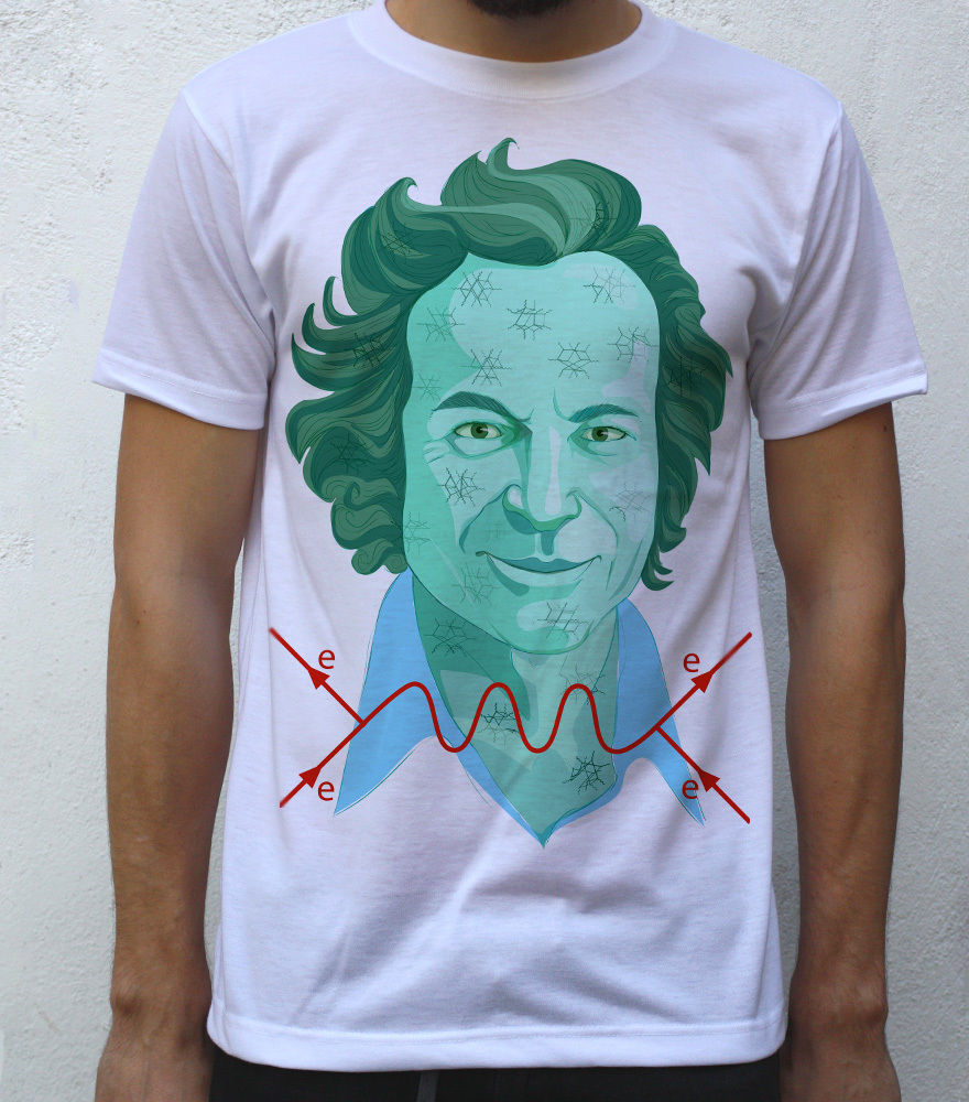 Richard Feynman T shirt Artwork