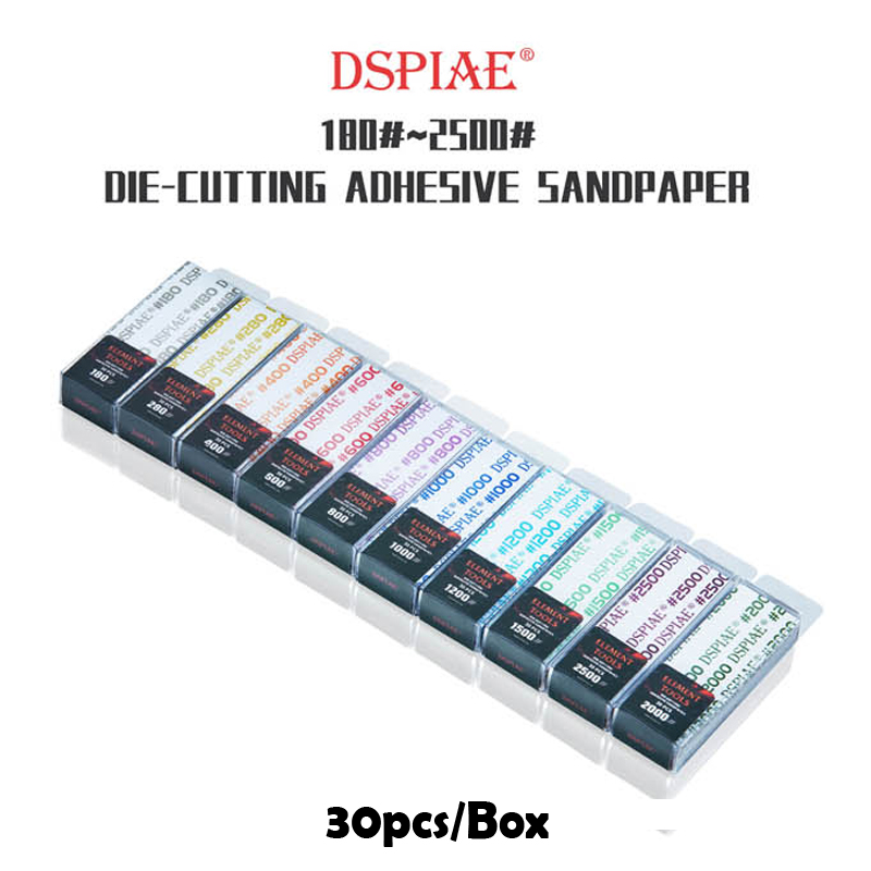 DSPIAE WSP Gundam Military Model Special Tool For Polishing  180  2500  DIE-CUTTING ADHESIVE SANDPAPER A set of 10 Boxes