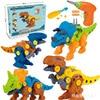 Screws assembled dinosaur Tyrannosaurus  DIY Building Blocks Kit  Bricks Ideas DIY Model Toys For Children Gift