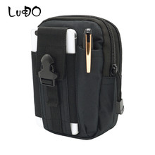 New Universal Outdoor Tactical Bag Waterproof Casual Molle Belt Waist Bags Nylon Mobile Phone Wallet Travel Pouch Small Bum Bags(China)
