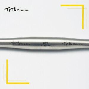 Image 3 - Darmowa wysyłka z MTB tytanu kierownica rowerowa płaska kierownica 31.8 lub 25.4*600/620/640/660/680/700/720mm projekt własne logo