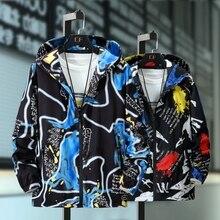 플러스 사이즈 10XL 9XL 8XL 7XL 6XL 5XL 재킷 남성 캐주얼 패션 2019 Streetwear 힙합 펑크 인쇄 스타일 디자인 봄 가을