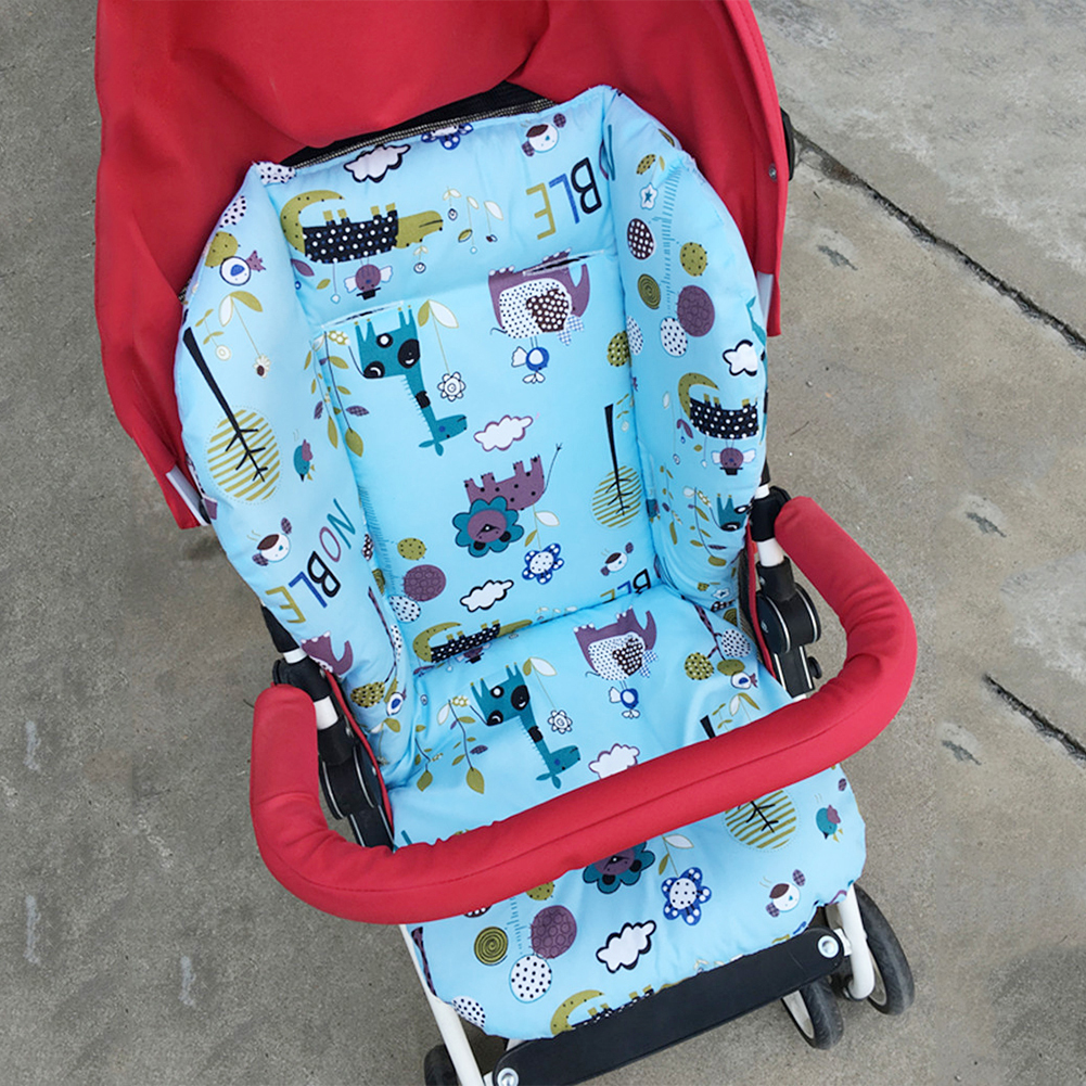 BREATHABLE STAR PRINT BABY STROLLER HIGH CHAIR SEAT CUSHION LINER MAT PAD COVER