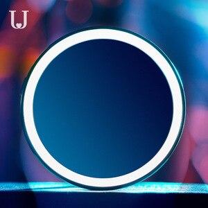 Image 3 - Youpin ジョーダン & ジュディ化粧鏡 led 蛍光ランプ折りたたみポータブル補助光ドレッシングミラー