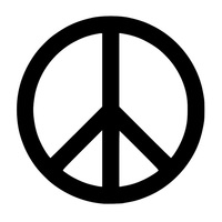 Peace Sign Symbol Car Vehicle Body Window Reflective Decals Sticker Decoration Car Exterior Accessories 2019 New Funny Sign 3
