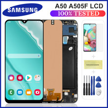 Novo para samsung galaxy a50 SM-A505FN/ds a505f/ds a505 lcd screen display toque digitador assembléia para samsung a50 lcd