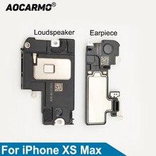 سماعة أذن من Aocarmo لهاتف iPhone XS Max سماعة أذن بجزء سفلي مكبر صوت طنان قارع الأجراس قطع غيار