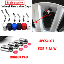 4 шт. алюминиевые колпачки для стержней клапанов автомобильных шин для bmw F10 F20 F25 F30 F31 E36 E39 E87 E60 E46 E90 X1 X3 X5 E53 M