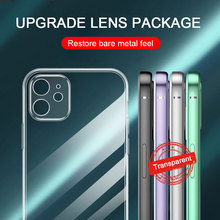 Phone-Case Protection-Cover Camera-Lens Transparent Silicone 12 Mini for 11 12-Pro/max