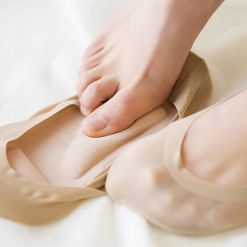 3D Women Socks Invisiable Massage Socks Soft Ice Silk Sock Ladies Non-slip Socks Comfortable Boat Socks New Feet Socks For Women