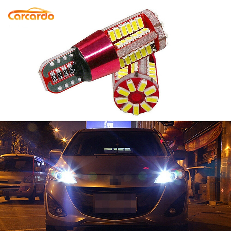Carcardo LED Car T10 W5W Light Canbus Bulb 57SMD 194 Clearance No Error Auto Wedge Marker Lamp