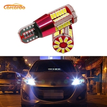 купить Carcardo LED Car T10 W5W LED Car Light T10 LED Canbus Bulb 57SMD LED T10 W5W 194 Clearance Light No Error Auto Wedge Marker Lamp дешево