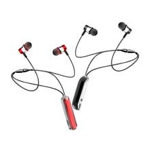 Sem fio fone de ouvido esportes neckband ímã 5.0 bluetooth compatível na orelha vermelho universal fones de ouvido com microfone para iphone xr fone de ouvido