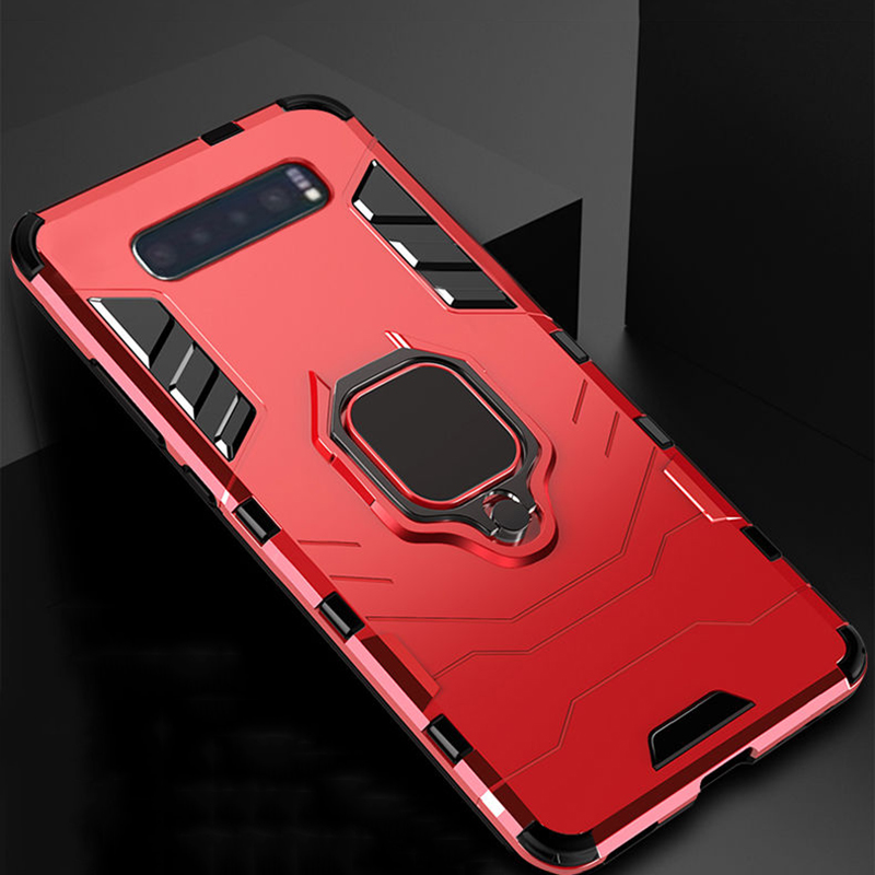 Car Magnetic <font><b>Armor</b></font> Phone <font><b>Case</b></font> For <font><b>Samsung</b></font> Galaxy A50 A30 <font><b>A20</b></font> A10 A70 S10 9 8 Plus Note 10 Pro 8 9 Shockproof Stand Ring Cover image