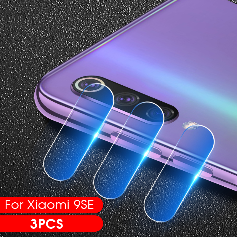 3PCS Protective Camera Tempered Glass For xiaomi Mi 9 SE A3 CC9E CC9 Mi9 Mi 8 A2 lite 6X A1 MiA3 Screen Protector Back Lens Film