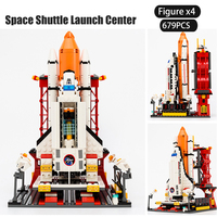 City Spaceport Space Shuttle Launch Center Building Blocks Compatible LegoINGL Technic Juguetes blocks Bricks Toys For Children