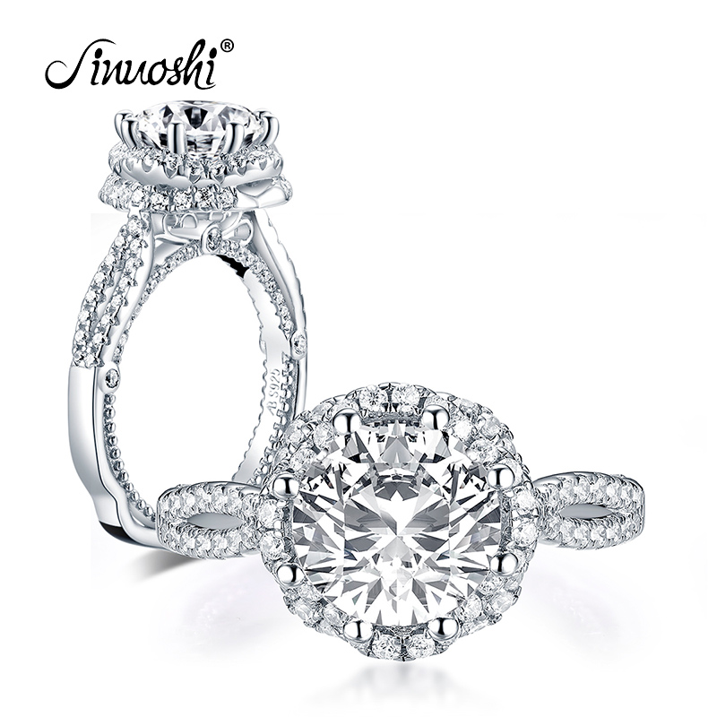 Radiant Simulated Diamond Double Halo Sterling Silver Engagement Ring