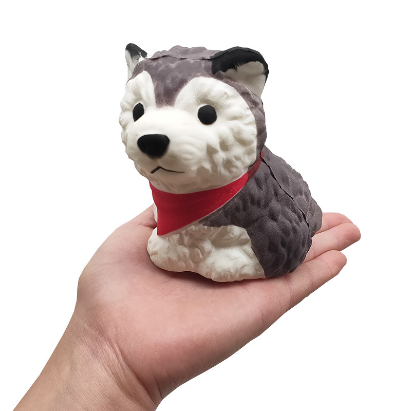 Slow Rising Squishy Puppy Dog Squeeze Husky Dog Jumbo Scented Decompression Cartoon Animals Relieves Stress Anxiety Toy