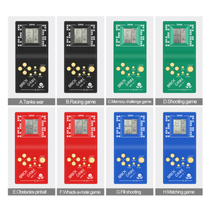 Image 4 - Классическая Детская портативная электронная Игровая приставка тетрис с ЖК экраном 2,7 дюйма Карманная игровая консоль портативные игровые плееры