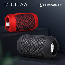 KUULAA Bluetooth speaker Portable Wireless Loudspeakers For Phone Computer Stereo Music surround Waterproof Outdoor Speakers Box wireless bluetooth speaker outdoor waterproof boombox portable stereo subwoofer surround speakers for computer support tf usb