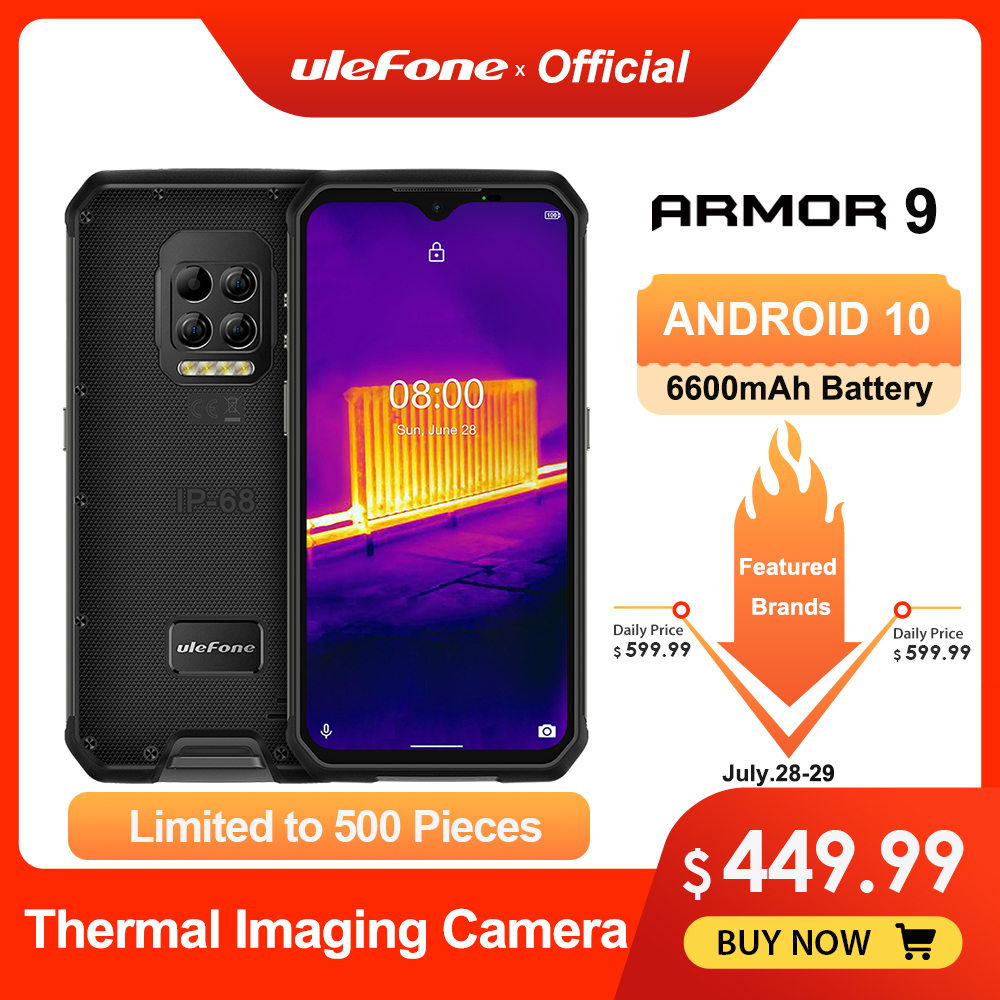 Ulefone Armor 9 Thermal Camera Rugged Phone Android 10 Helio P90 Octa core 8GB+128GB Mobile Phone 6600mAh 64MP Camera Smartphone|Cellphones|   - AliExpress