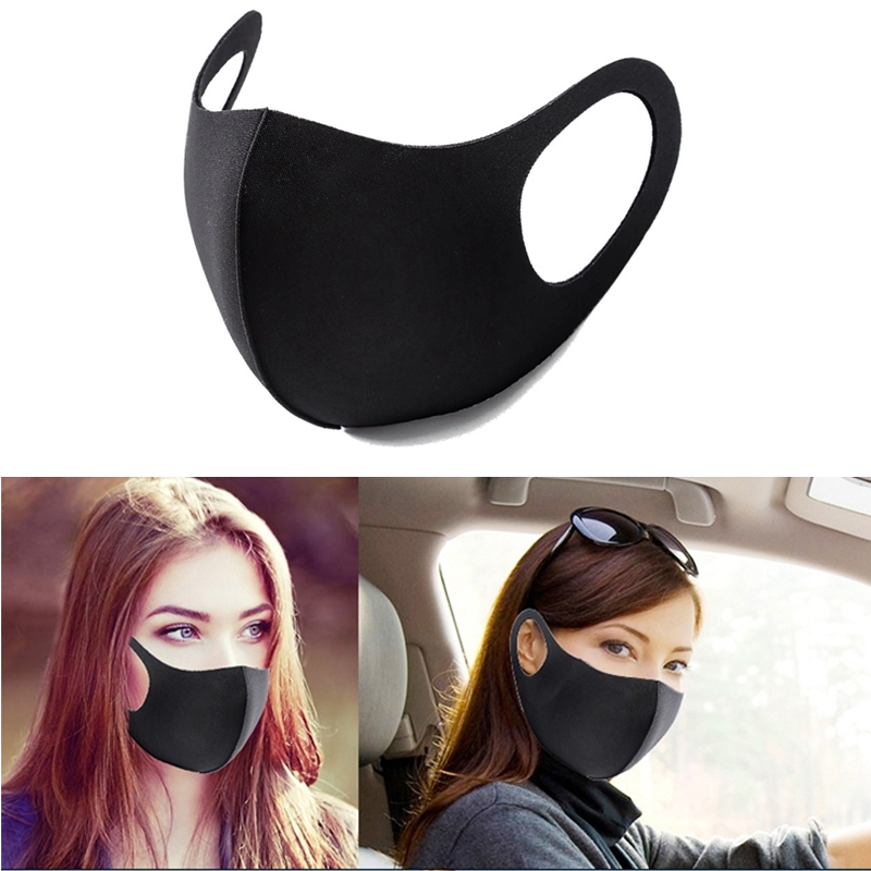 3PCS Fashion Face Mouth Mask Anti Dust Mask Filter Windproof Mouth-muffle Bacteria Proof Flu Face Masks Care Reusable Washable