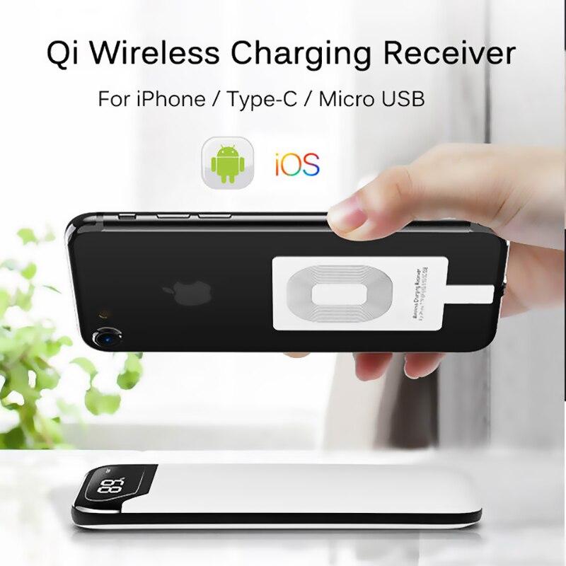 Micro USB Type C универсальное Быстрое беспроводное зарядное устройство адаптер для Samsung huawei для iPhone для Android Qi беспроводной зарядный приемник-1