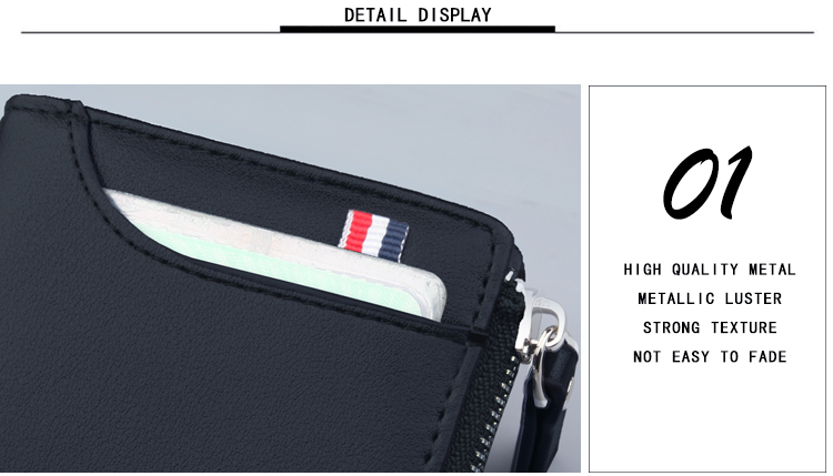 Hdca288f99dc349debcae00ed9e3e1b9f3 - New Men's Genuine Leather Short Wallet Fashion Luxury Brand Coin Purse Driver's License Bag Purse For Men card Mini Wallet
