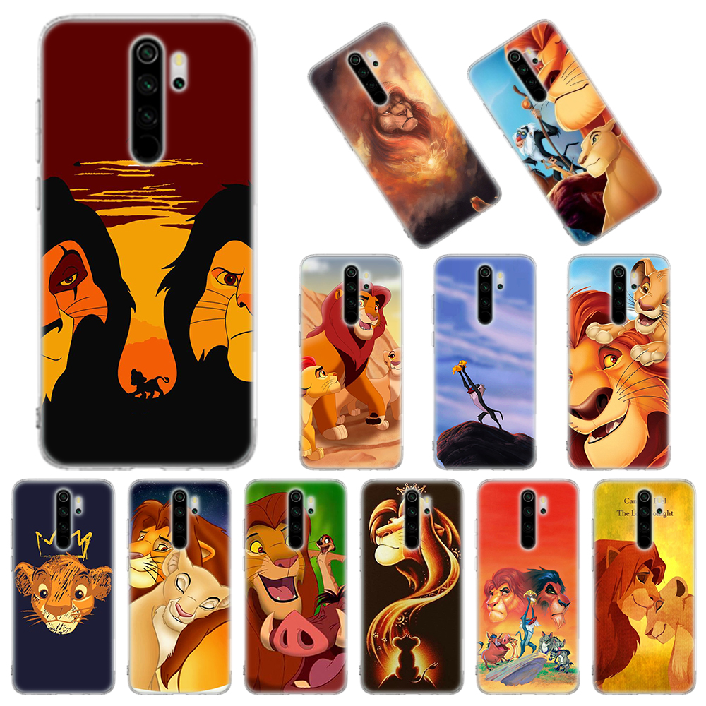 Silicone Case Coque For Xiaomi Redmi Note 8T 9S 6 7 8 Pro 9 Pro Max 6A 7A 8A K20 K30 Pro Cover Lion King Simba