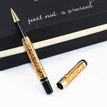 JINHAO 5000 Luxury rollerball pen business office supplies novelty brand stationery male metal ballpoint pen jinhao luxury gold 3d dragon and phoenix pattern rollerball pen high quality metal ballpoint pens for writing free shipping