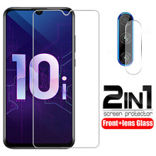 2 in 1 Camera Tempered Glass for Huawei Honor 10i 10 i 10 lite Full Cover Screen Protective glass film for honor 10 lite 10 i cheap KINGZALIN Front Film Mobile Phone Tempered Glass for Huawei Honor 10 lite