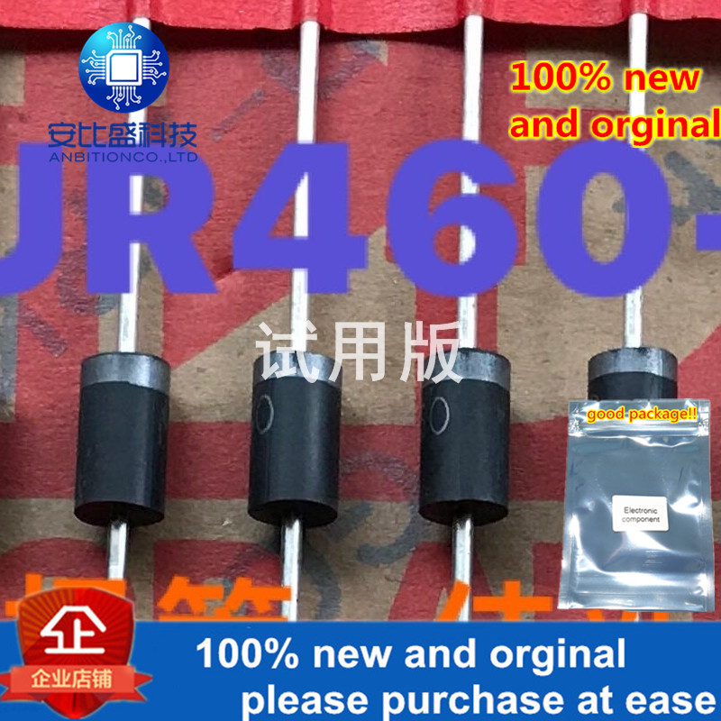 30pcs 100% New And Orginal MUR460-TB 4A600VUltra Fast Recovery Diode DO-27  In Stock
