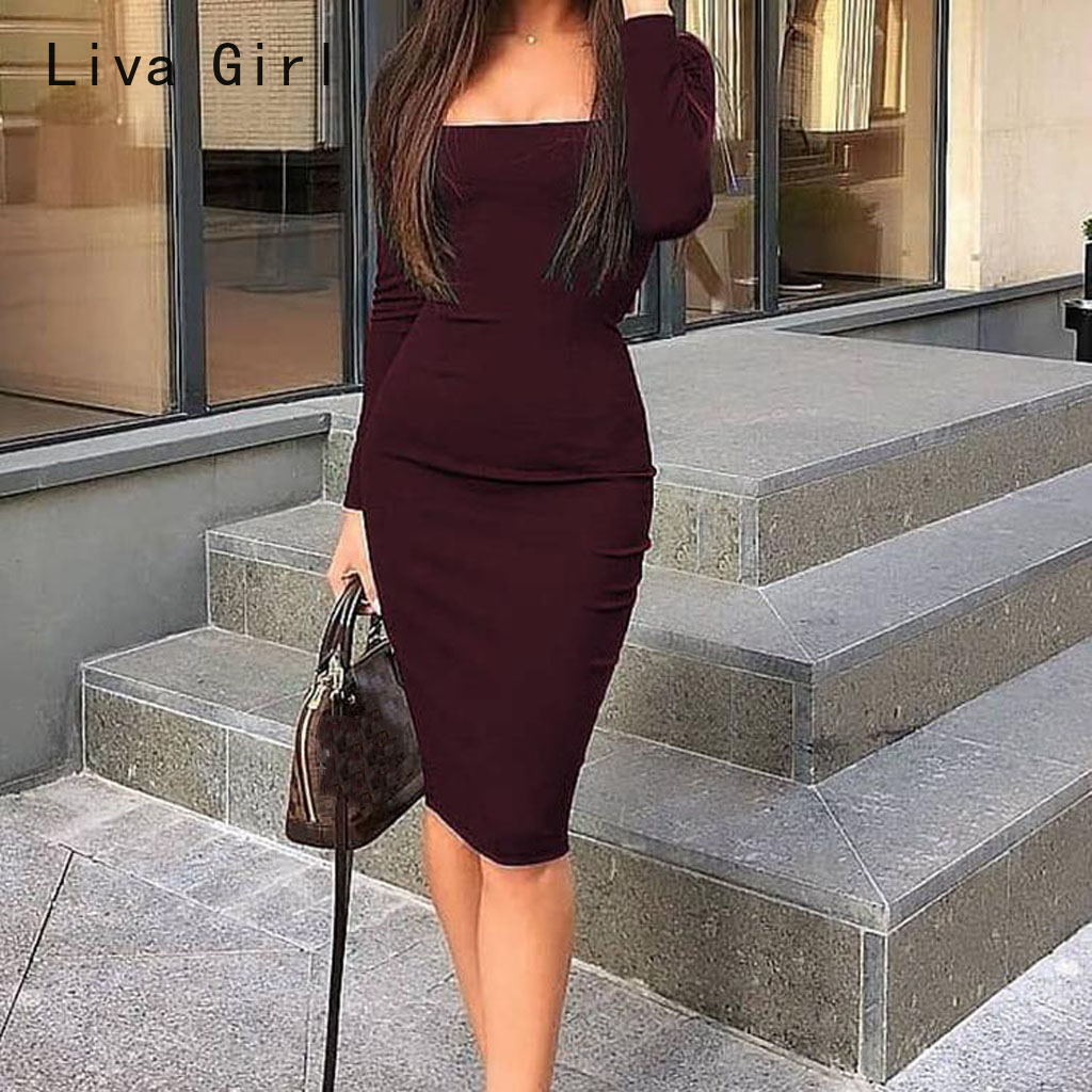 Hot <font><b>Sexy</b></font> Slim Fit Shirt <font><b>Christmas</b></font> Party <font><b>Dresses</b></font> Women Bodycon <font><b>Dress</b></font> Sundress <font><b>Sexy</b></font> OL Clothes Office Lady Elegant <font><b>Dress</b></font> Blue <font><b>Red</b></font> image