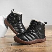 Botas de nieve impermeables para niñas y niños, calzado para mantener el calor, botines, para invierno, 2020