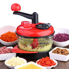 Kitchen Manual Food Processor Mixer Egg Blender Meat Grinder Vegetable Chopper Shredder Stainless Steel Blade Cutter 220v meat cutter slicer vegetable cutter food processor stainless steel meat cutting machine