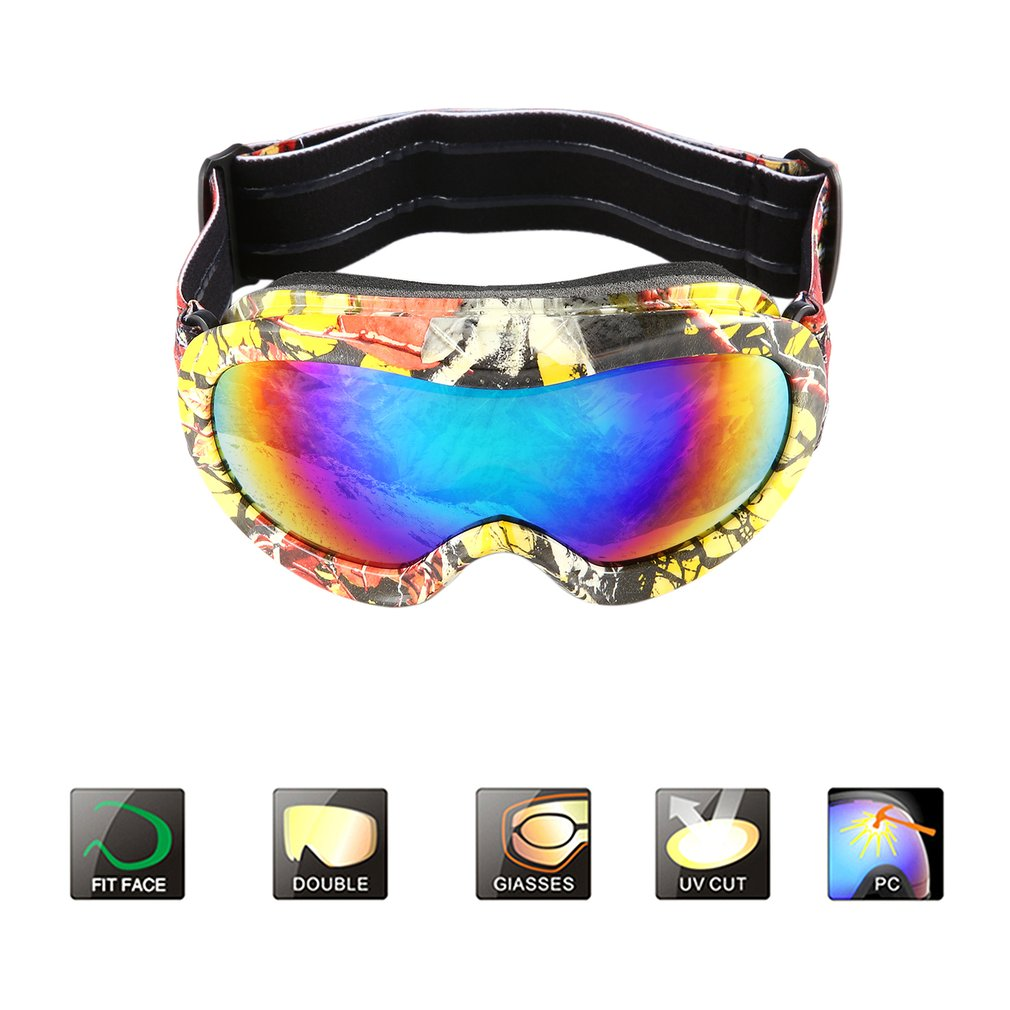Children Double Lens Ski Goggles Anti-fog UV400 For Outdoor Sports Skiing Goggles Snow Snowboard Protective Glasses Eyewear New