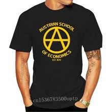 Fashion Cool Mannen T-shirt Vrouwen Grappige T-shirt Oostenrijkse School Economie Kapitalisme Libertarian Aangepaste Gedrukt T-shirt