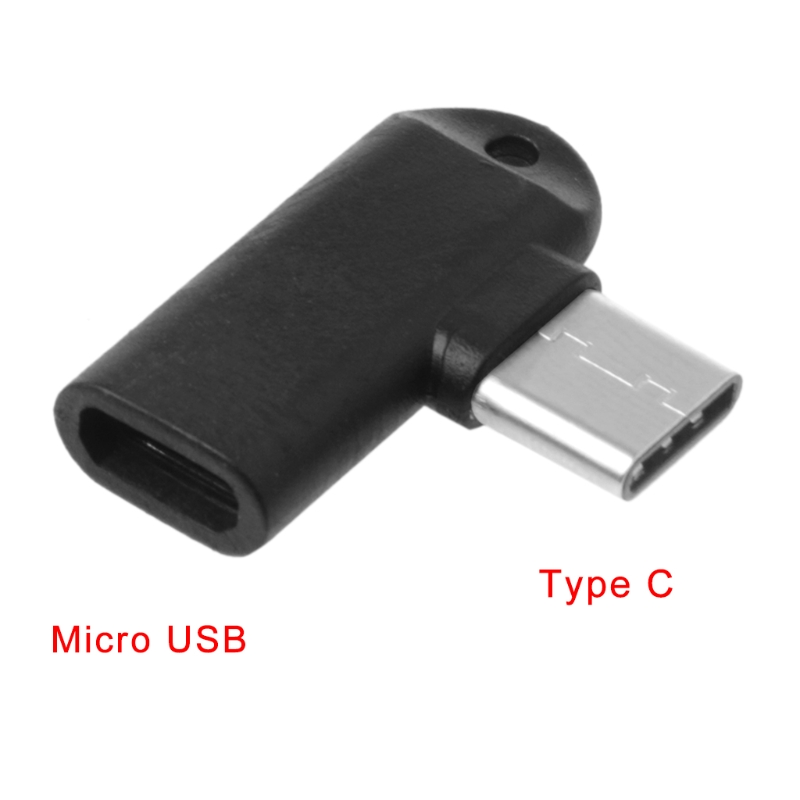 1Pc 90 Degree Type C Male To Micro USB Female Data Sync Charge Converter Adapter